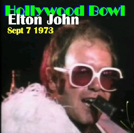 """9-7 in 1973: Infamous adult-movie star Linda Lovelace opens Elton John's show at the Hollywood Bowl by introducing Elton as """"the biggest, largest, most gigantic and fantastic man"""" and """"the co-star of my next movie."""""""