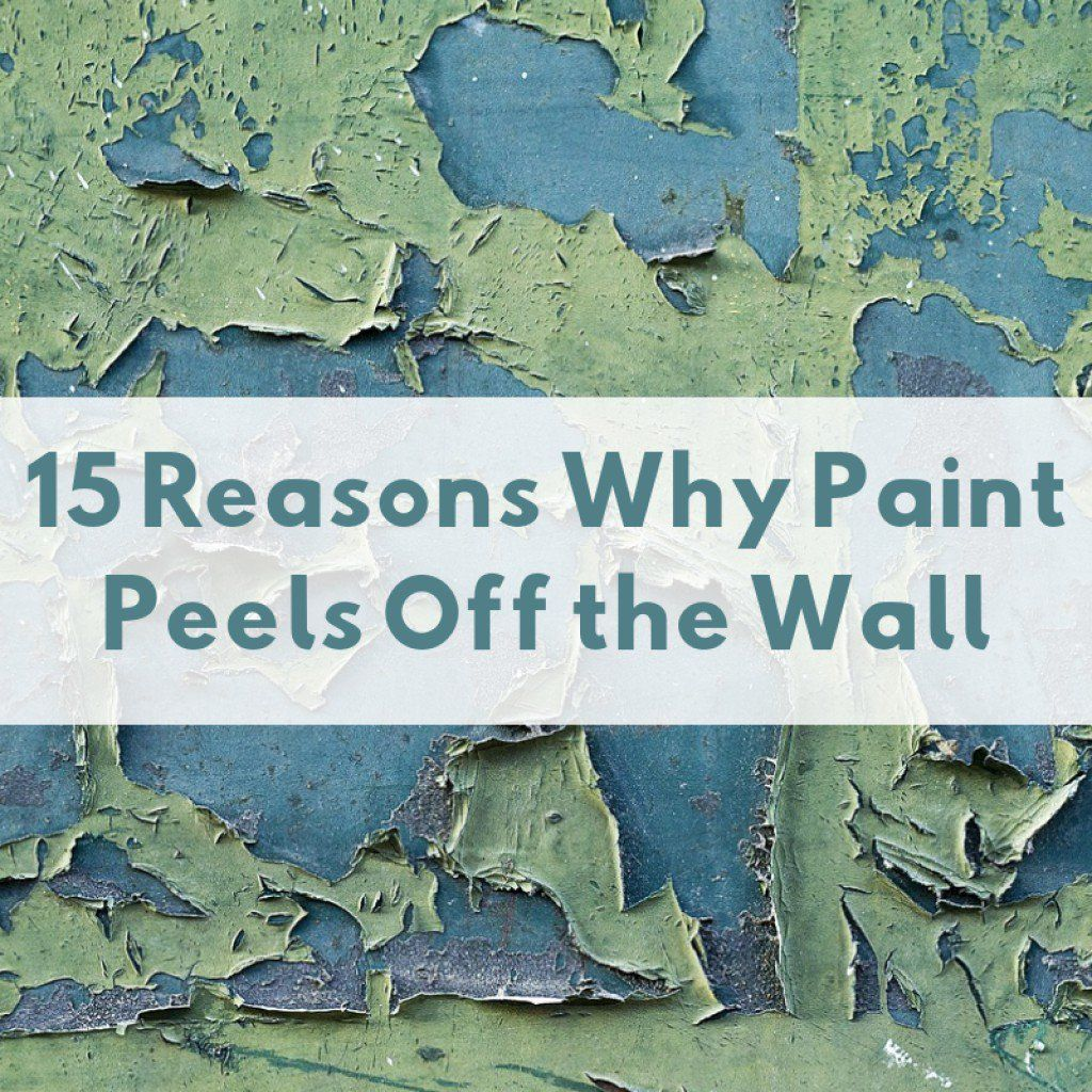 how to patch peeling paint on wall