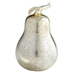 Silver Pear Mercury Glass Sculpture | Kathy Kuo Home