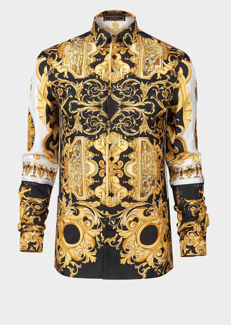 versace silk shirt mens replica