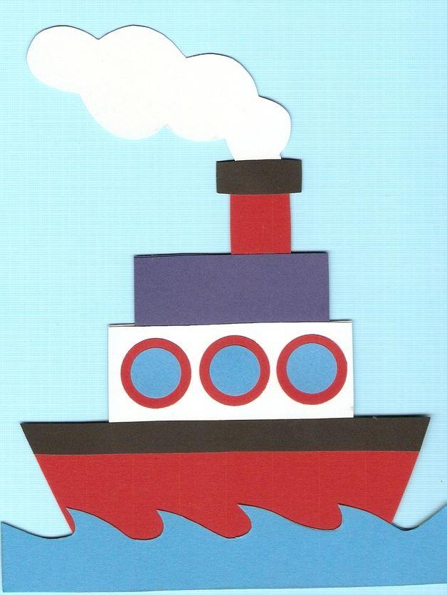Boot bastelvorlage  fensterbild schiff | Jungs | Pinterest | Fensterbilder, Schiffe ...