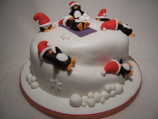 Dolci di pasta di zucchero e torte decorate per natale - Torte natalizie decorate ...