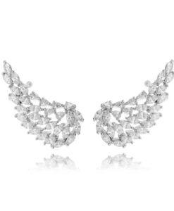 f2908d0d39d65 joias ear cuff zirconia branca e banho de rodio semi joias de luxo online