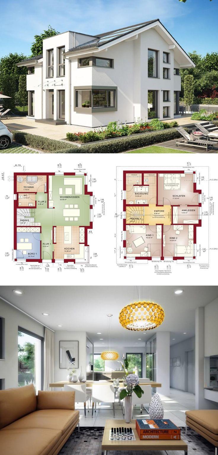 Einfamilienhaus mit satteldach concept m 152 bien zenker for Hausbau modern satteldach