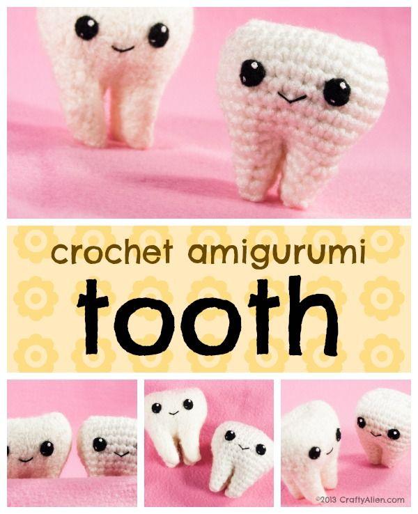 Molar the amigurumi tooth - pattern | Crochet basics, Crochet ... | 738x600