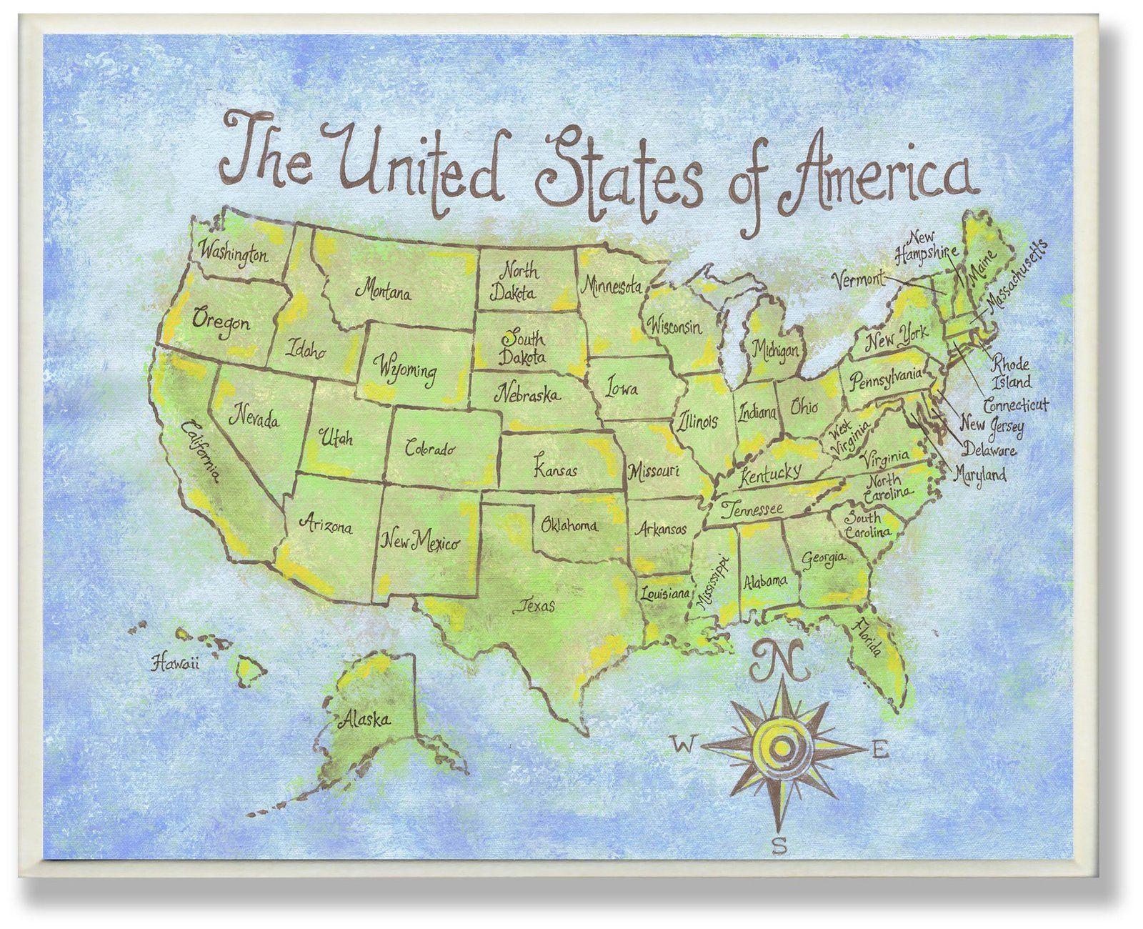 Wall Plaque - USA Wall Map - casa.com | Foods | Pinterest | Wall ...