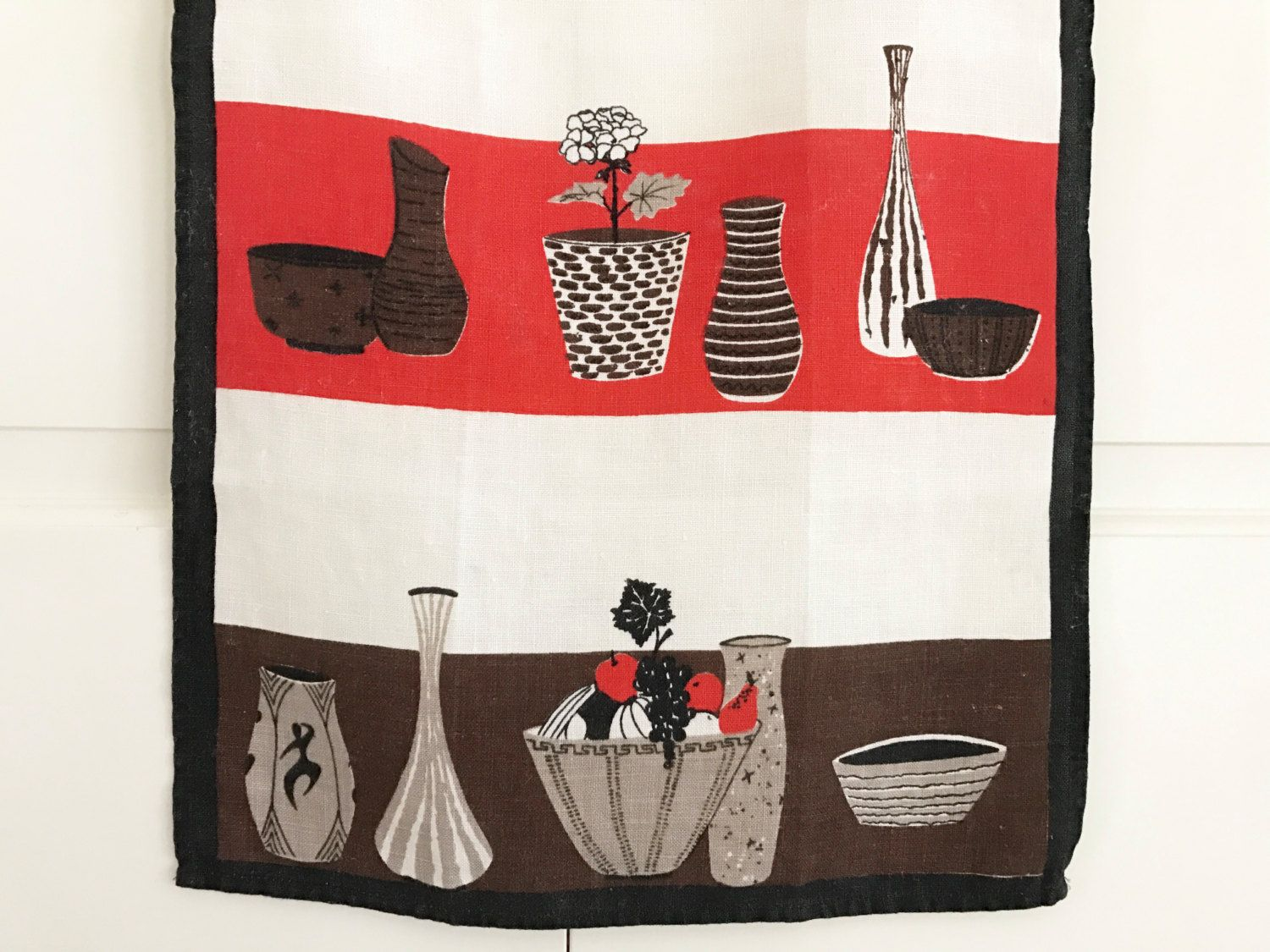 Cool Wall Hangings mid century modern, tea towel, cool ceramic vases, bowls, linen