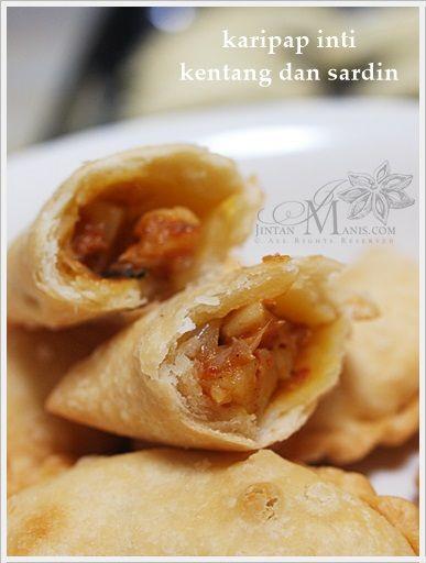 Karipap Rangup Inti Sardin Dan Kentang Food Asian Recipes Malaysian Dessert