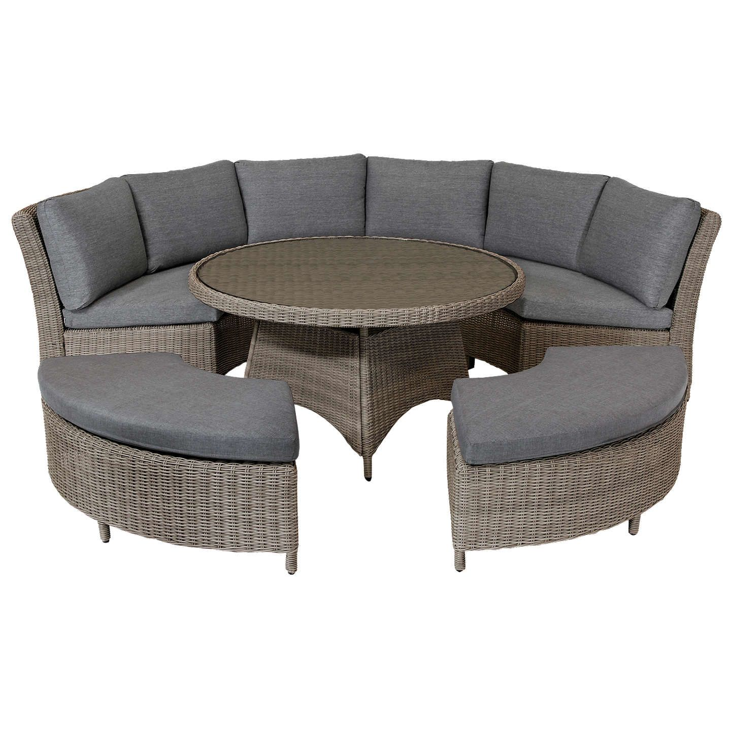 Kettler palma 8 seater round garden dining table and