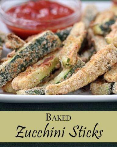 Baked Zucchini Sticks Recipe Healthy snacks recipes