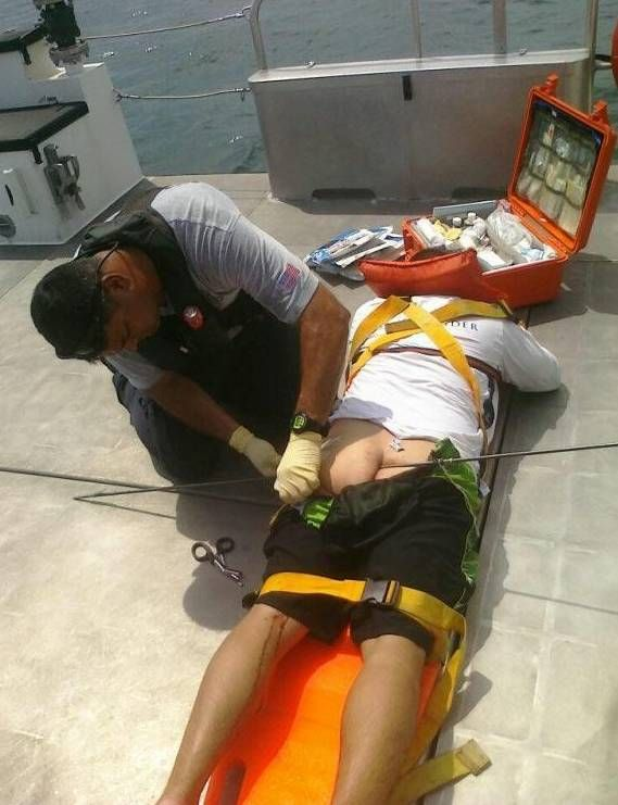 Unsafe spear fishing can lead to painful but hilarious accidents!