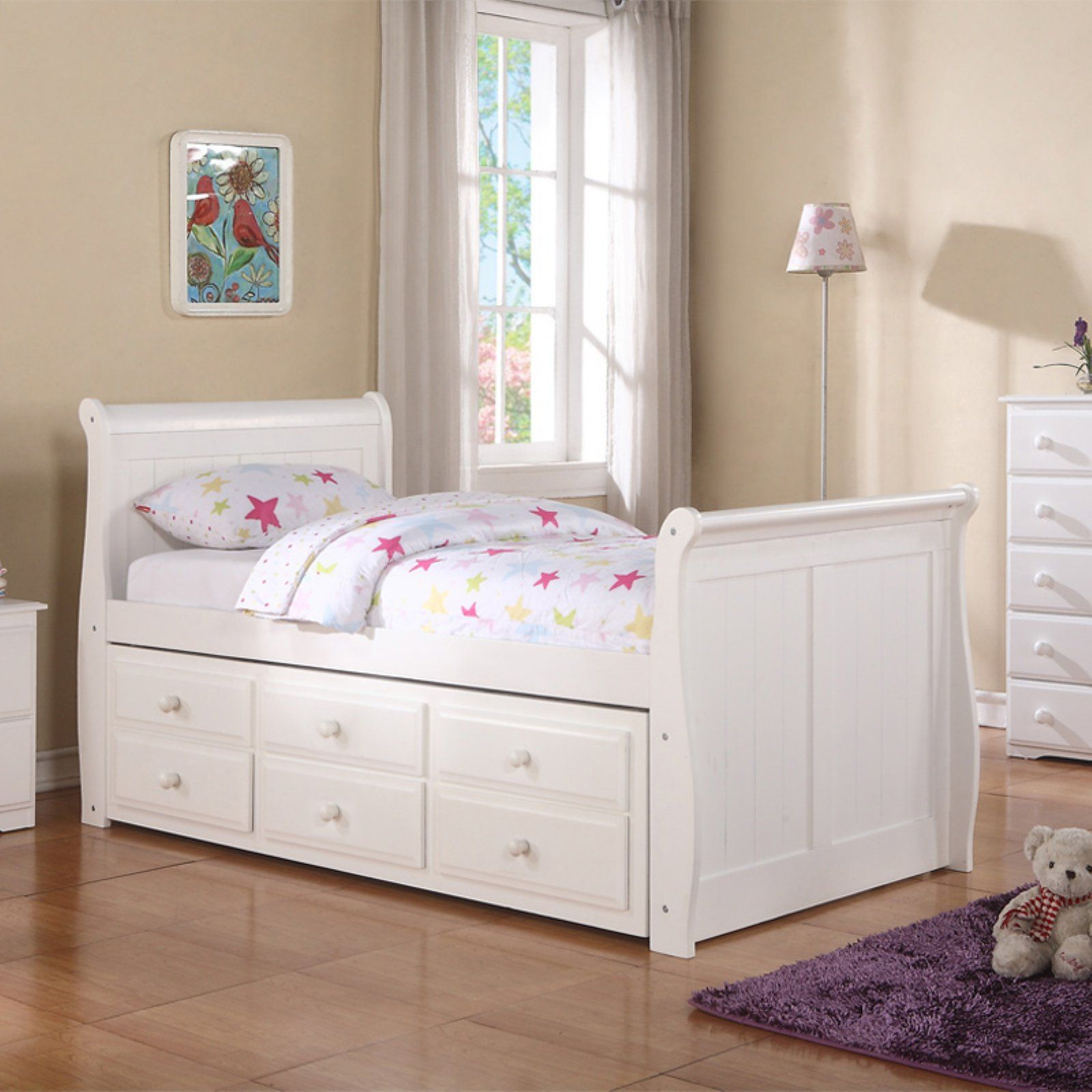 Best Donco Captains Sleigh Bed Size Twin Captains Bed 400 x 300