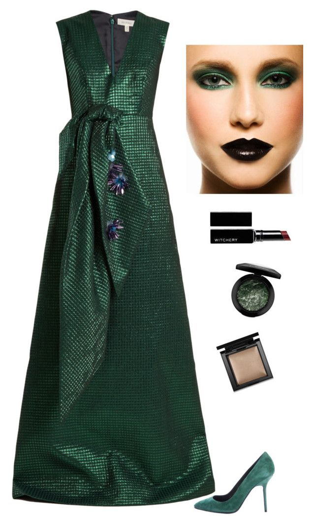 """Untitled #5627"" by kotnourka ❤ liked on Polyvore featuring Delpozo, Burberry, MAC Cosmetics, Witchery and Bare Escentuals"