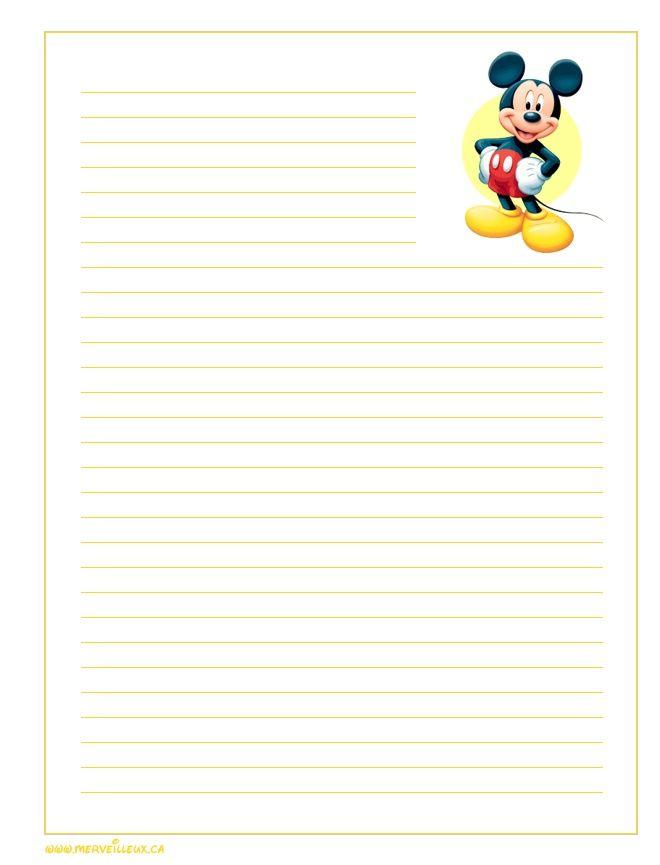 Papier a lettre a imprimer lettres papiers pinterest lettres lettres disney et bureautique - Lettre disney ...