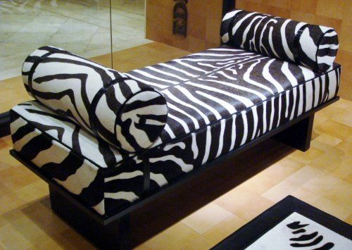 Park Lane Chaise Lounge in Zebra MAKE AN END OF BED BENCH LOOK LIKE A CHAISE : zebra print chaise - Sectionals, Sofas & Couches