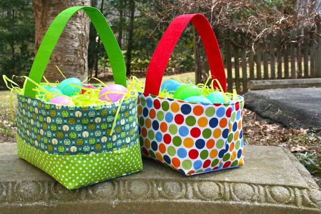 """My Go-Go Life made these easy last minute baskets that can be used for sorting fabric scraps or storing patterns, link to tutorial in blog post. """"I love my Aurifil 40wt, perfect colors and sews like a dream!""""    To see more visit  http://gogokim.blogspot.com/2013/03/last-minute-baskets.html"""