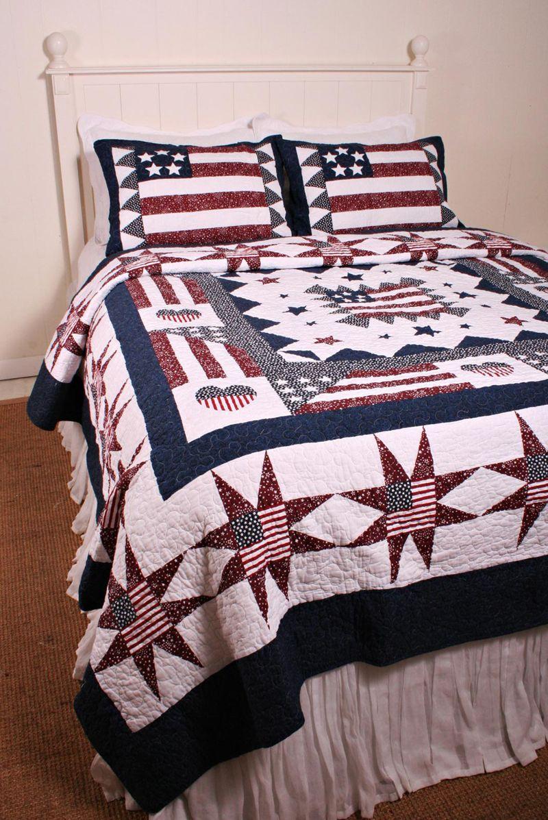 Great America Americana Flag Oversize Quilt Americana