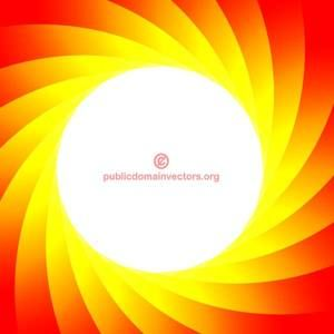 Vector background with red and yellow rotating shapes