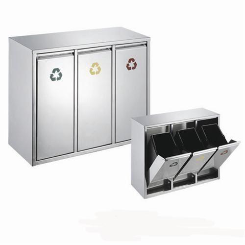 Edelstahl Abfallsammler Abfalleimer Mülleimer Mülltrennung NEU (24 ...