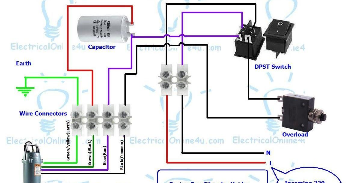 Submersible Pump Control Box Wiring Submersible Pump Electrical Circuit Diagram Submersible