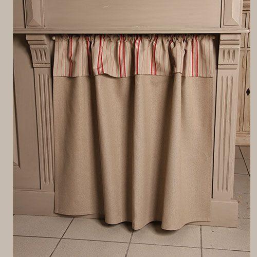 Linge de table rideau sous vier ray rouge d co - Rideau champetre cuisine ...