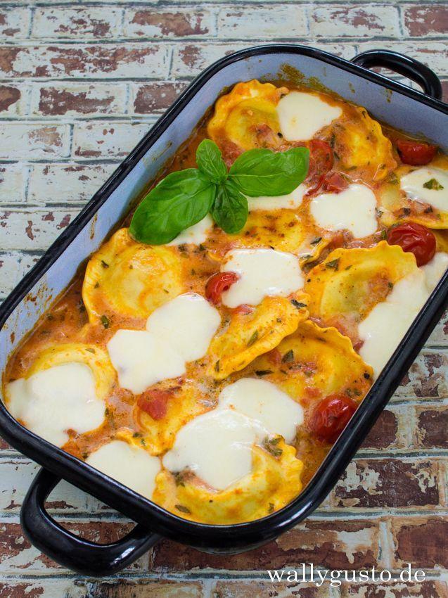 Tortellini mit Tomatensauce und Mozzarella | Wallygusto
