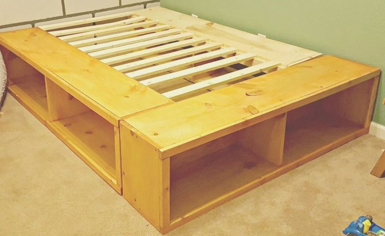 diy full size bed frame Diy full size bed frame, Full