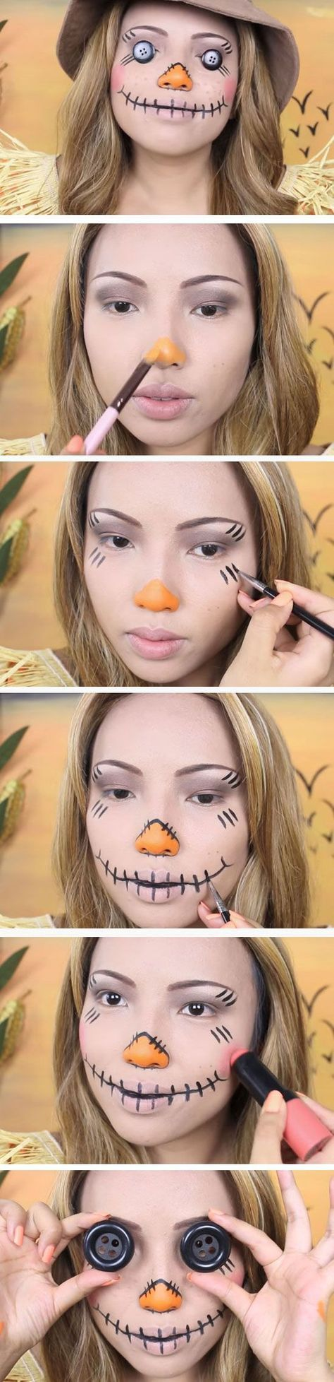 absolutely creepy costumes and make up for halloween