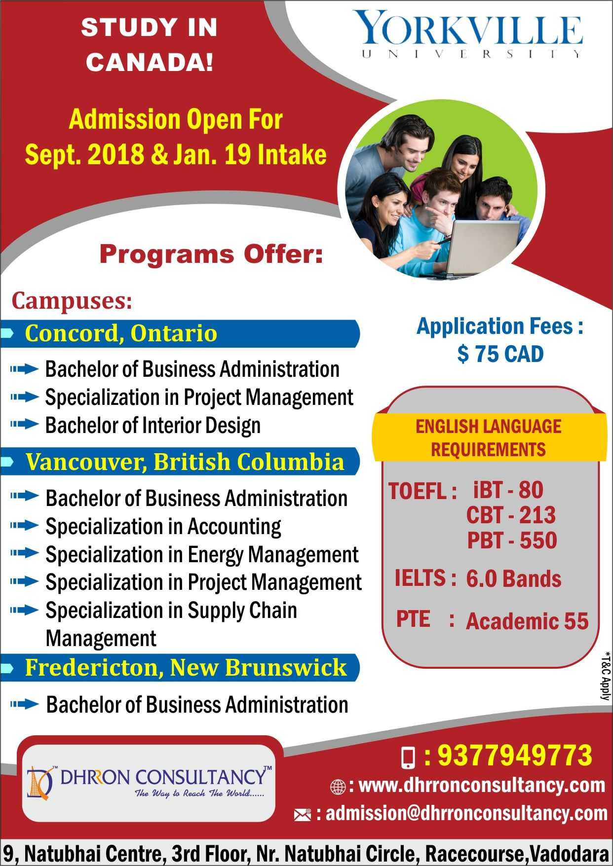 Do You Want To Study In Canada Apply In Yorkville University For September2018intake January2019intake T Business Administration Yorkville How To Apply