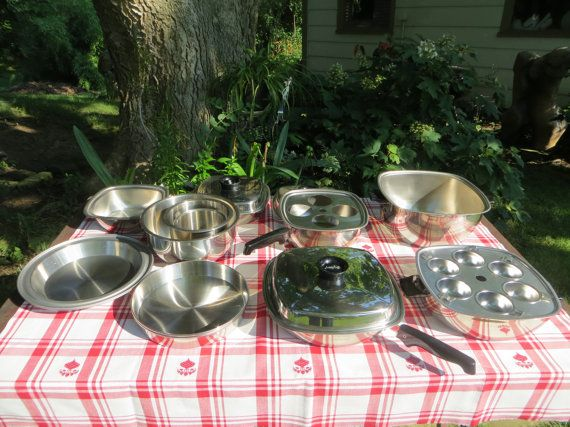 West Bend AristoCraft 18 Piece Stainless Steel by YaYasAttic, $350.00