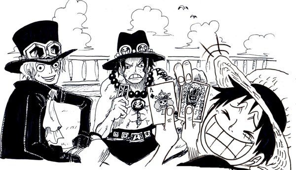 Ace Sabo Luffy One Piece Asl Funny One Piece Ace