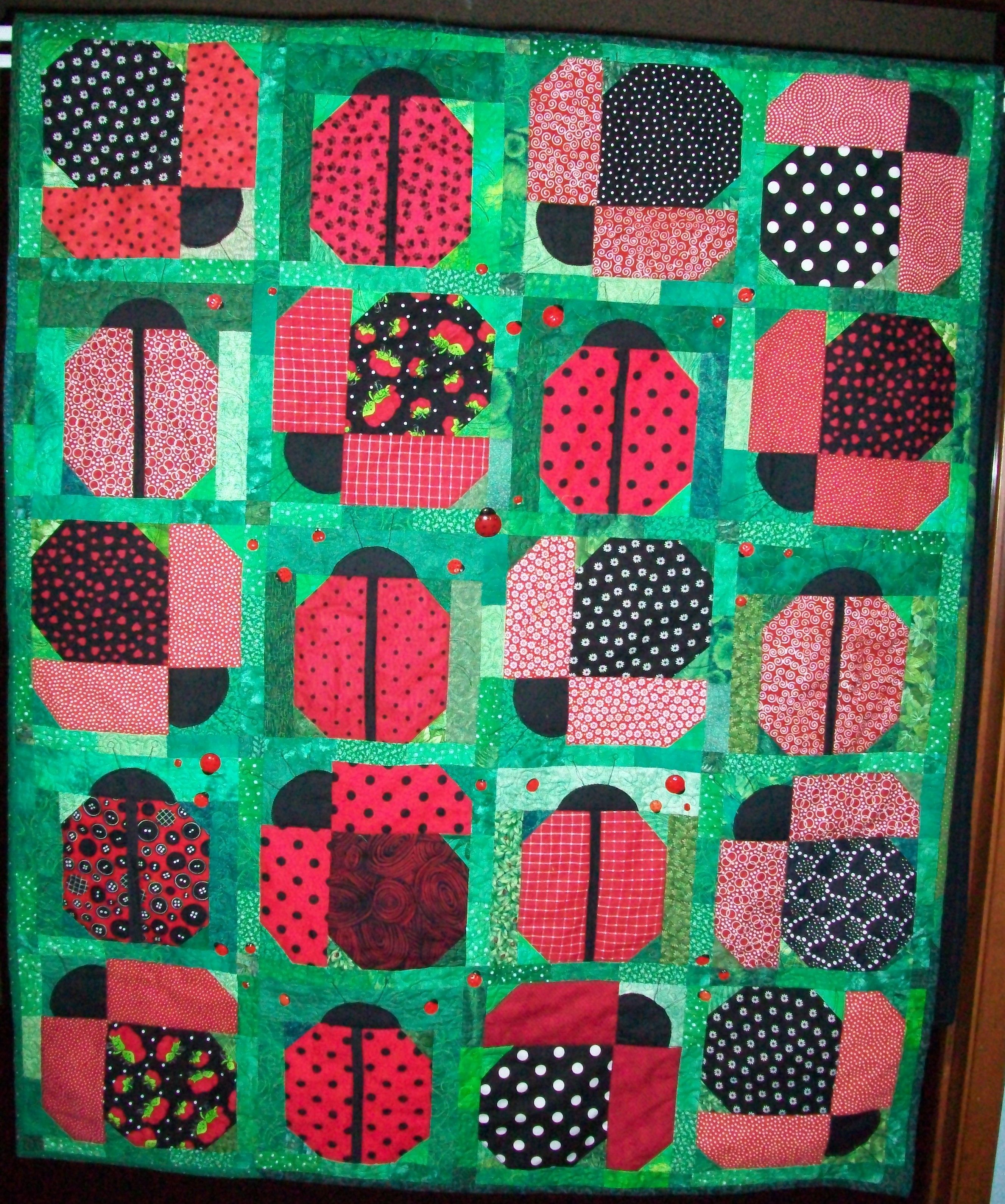 Quilt Blocks Lady Bugs | Quilts Finished 2010 | lady bugs ... : lady bug quilts - Adamdwight.com