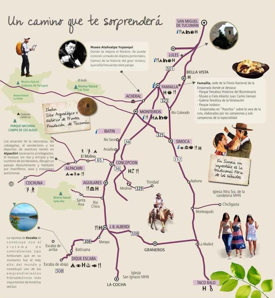 Circuito Turistico : Circuito sur ente tucumán turismo circuito sur