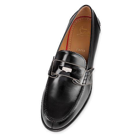 Monono Flat Black Leather - Men Shoes - Christian Louboutin