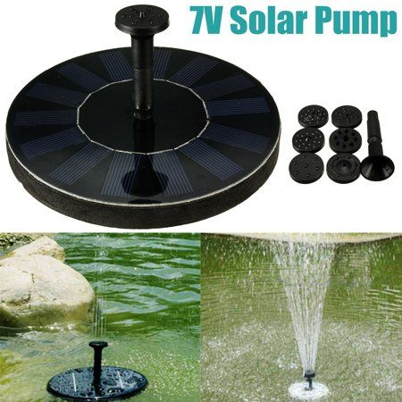 New Solar Powered Water Floating Fountain Pump Panel Pool 400 x 300