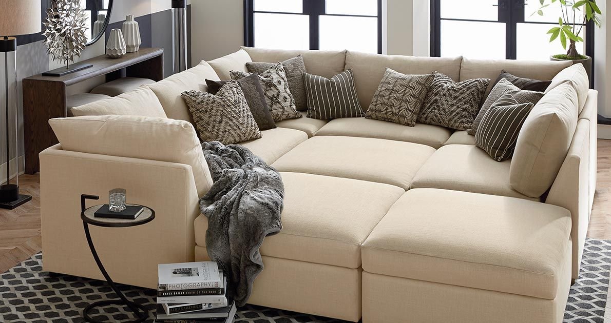 Bassett Beckham Comfortable Couch U Shaped Couch Pit Sofa