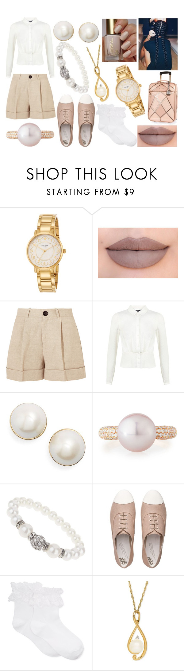 """""""Kendall"""" by apollosunshine23 ❤ liked on Polyvore featuring Kate Spade, Jeffree Star, Totême, Miss Selfridge, Belpearl, Dorothy Perkins, FitFlop, Hue and River Island"""