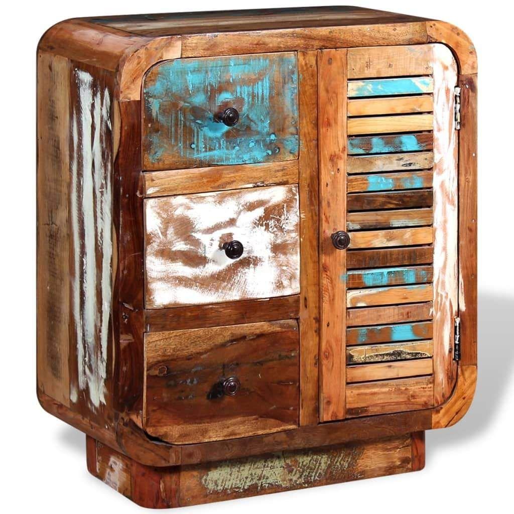 ZUN Sideboard Solid Reclaimed Wood 244233