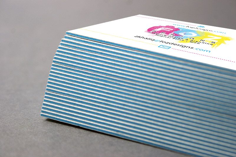Triple layered business cards 350gsm uncoated inner 240gsm cyan triple layered business cards 350gsm uncoated inner 240gsm cyan available in any colour colourmoves