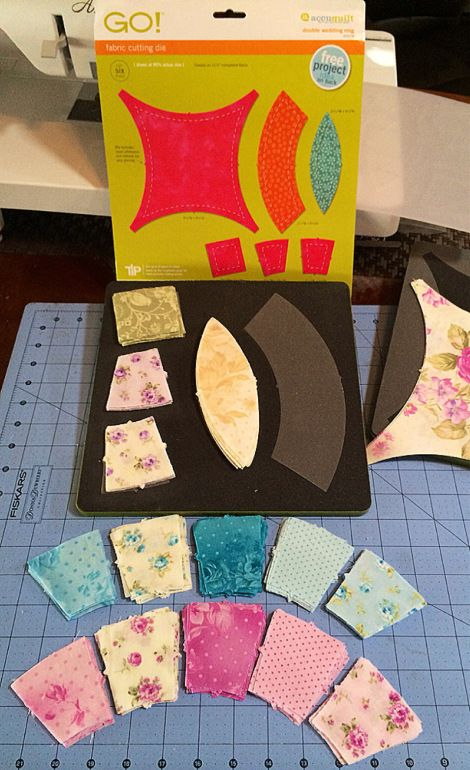 Cutting a Double Wedding Ring Quilt with the Accuquilt GO! Fabric ... : go quilt cutter - Adamdwight.com