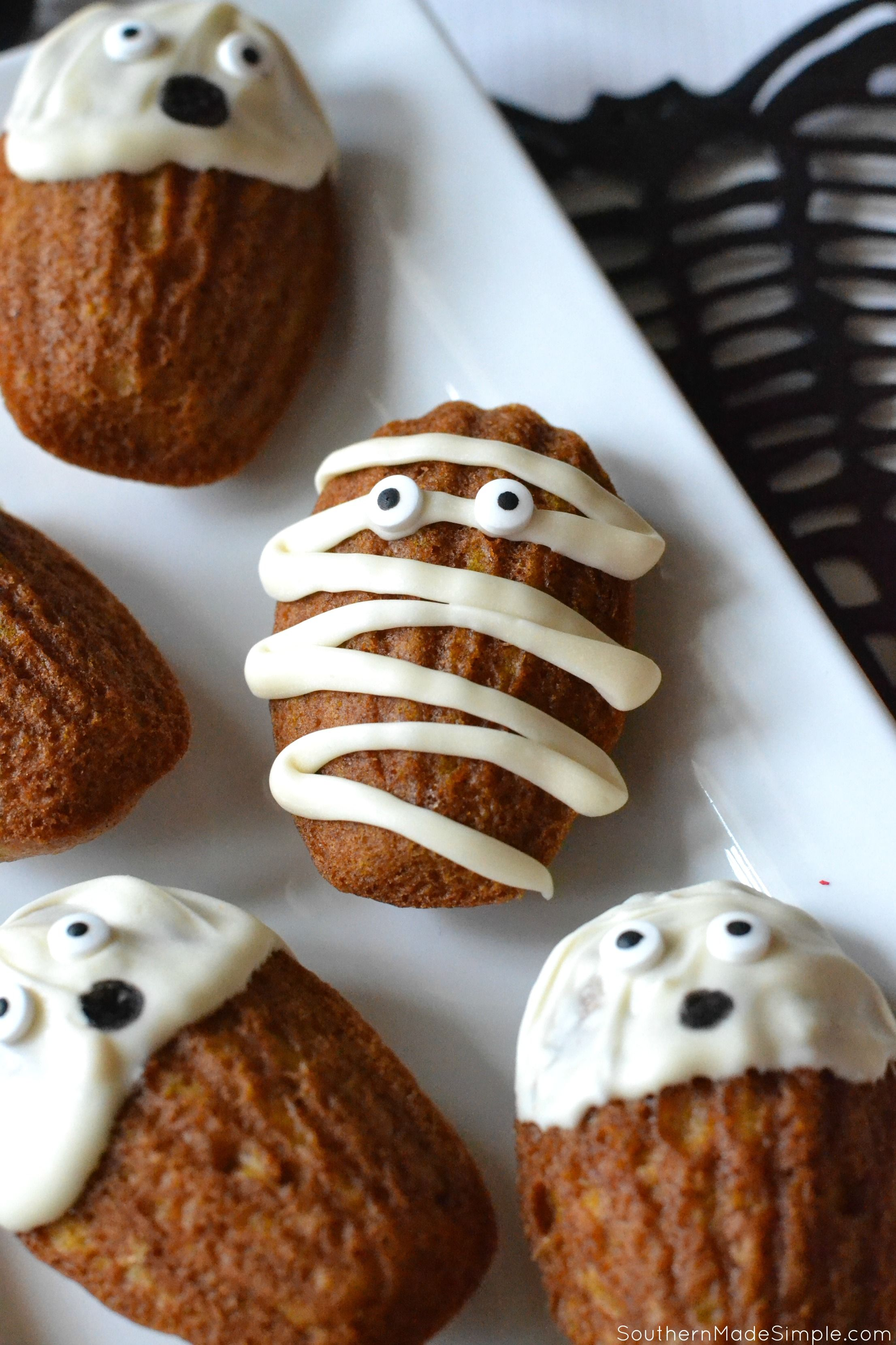 Why Are Mummies Popular In 2020 Halloween Mummy Madeleines | Recipe | Fall recipes pumpkin, Easy halloween