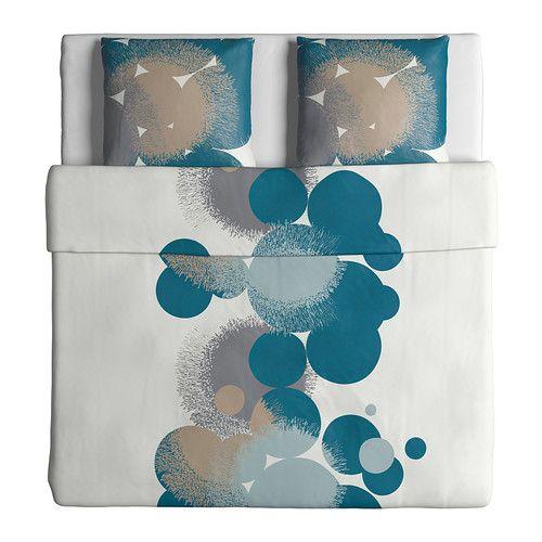 bolltistel housse de couette et 2 taies bleu couettes ikea et idee cadeau de noel. Black Bedroom Furniture Sets. Home Design Ideas