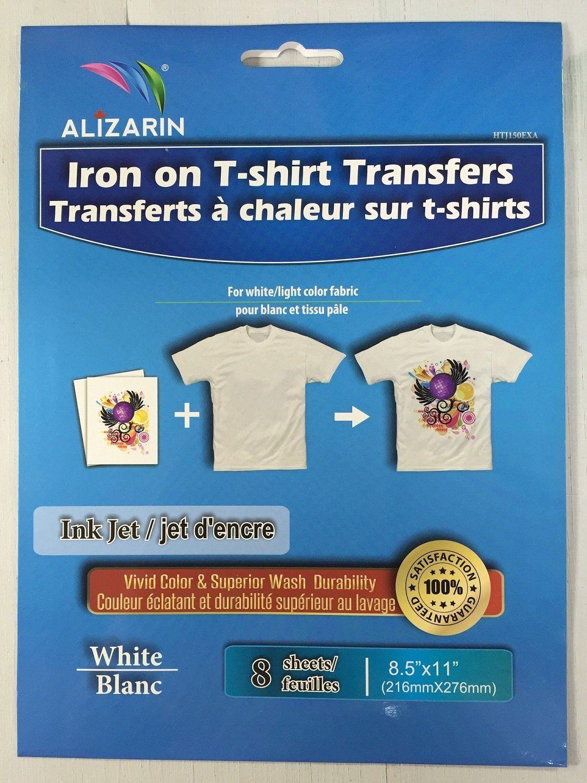 Alizarin inkjet light iron on transfer paper for diy