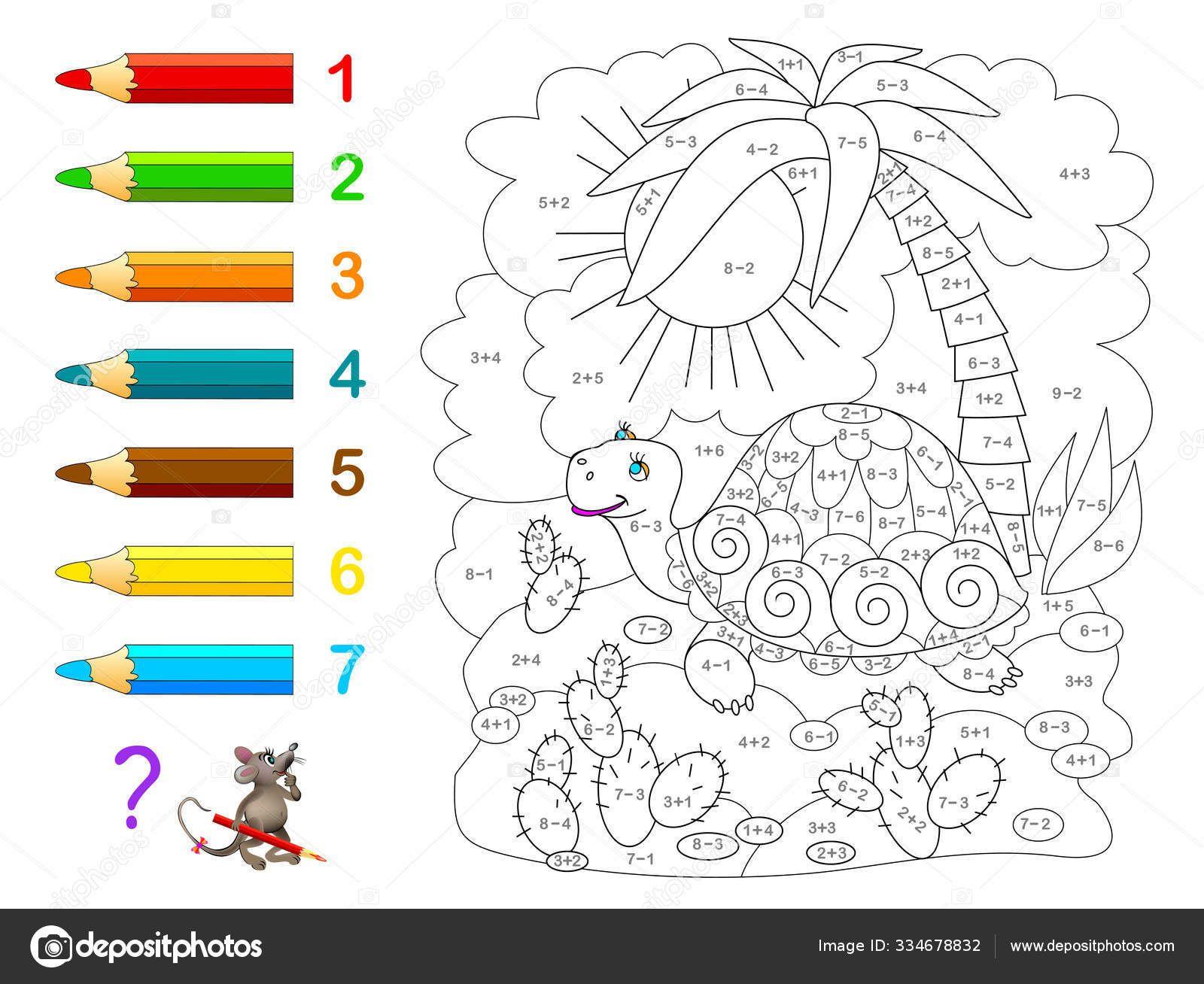 การเร ยนคณ ตศาสตร สำหร บเด ก สม ดระบายส แบบฝ กห ดทางคณ ตศาสตร เก ยวก บการบวกและลบ จงแก ต วอย างและวาดเ Education Math Preschool Coloring Pages Coloring Books