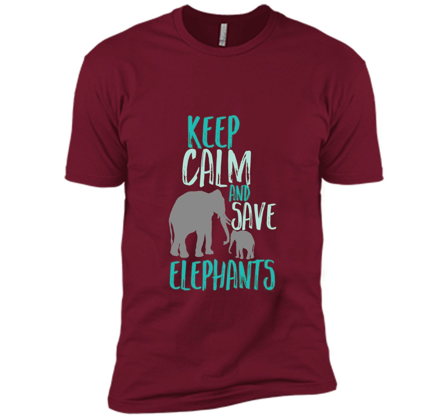 ccac5e4e4ff02f Keep Calm Save Elephants T-shirt Wildlife Animal Activist
