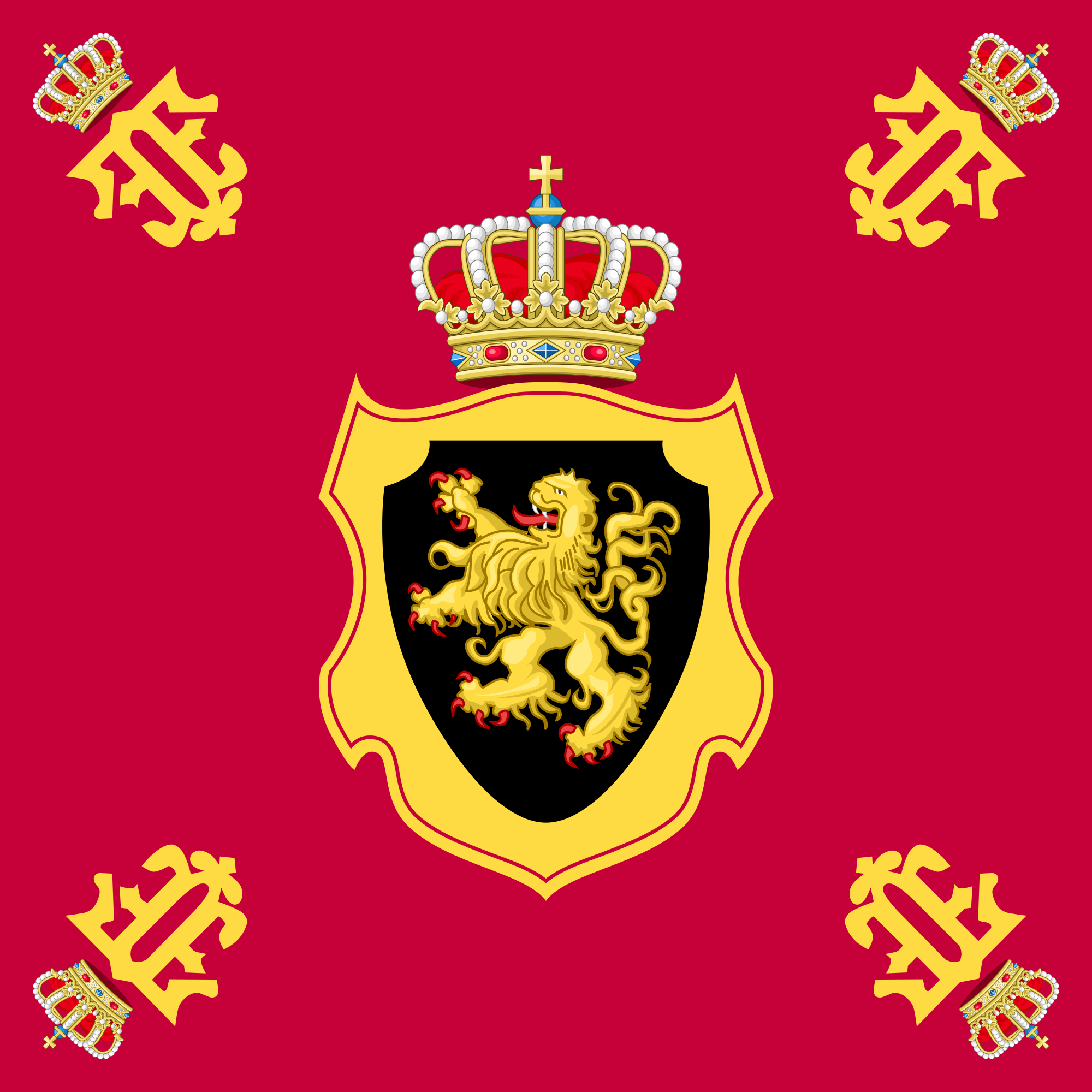Royal Standard of the Queen Consort of the Belgians (1960–1993)