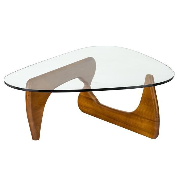 Isamu Noguchi Style Coffee Table Poly Bark