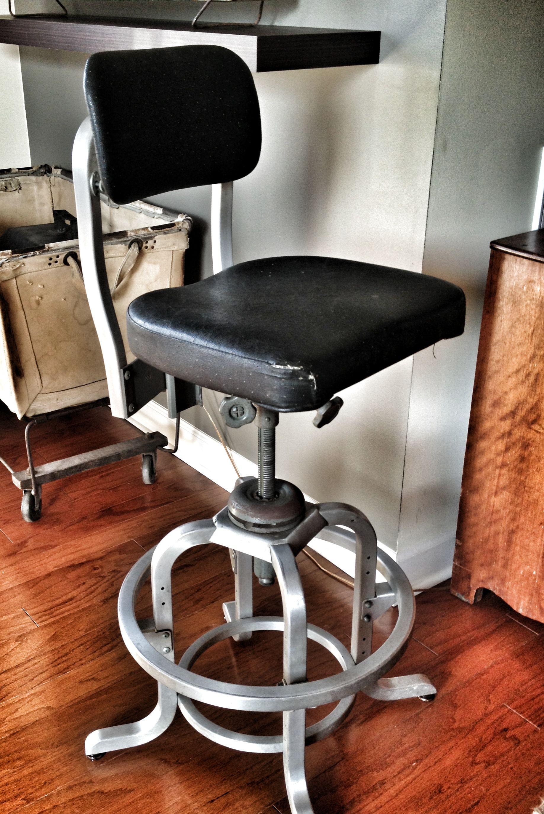 Wonderful industrial Good Form aluminum drafting stool