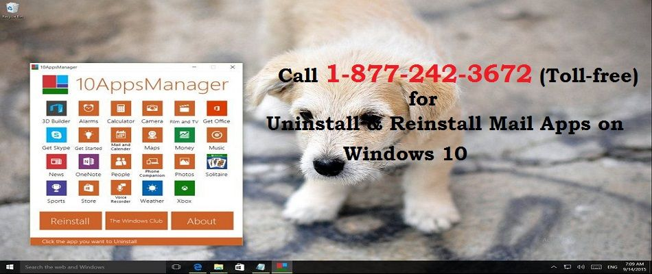 Call 18772423672 Uninstall and Reinstall Mail App on