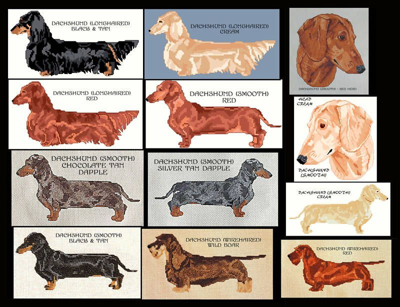 Details About Dachshund Counted Cross Stitch Pattern Cross